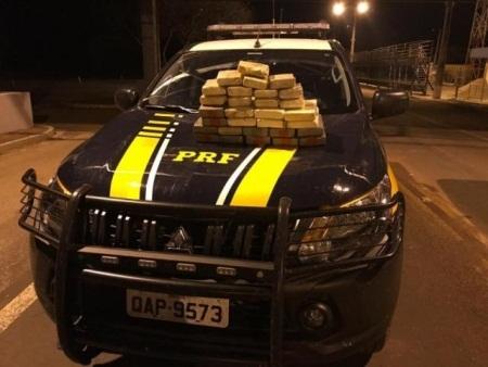 Casal é preso transportando 25 quilos de cocaína em veículo na BR-262
