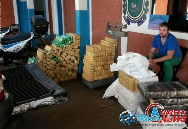 PM apreende mais de meia tonelada de maconha em Amambai
