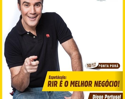 Humorista Diogo Portugal fará show em Ponta Porã